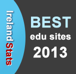 I am one of the Winners of IrelandStats Best Edu Sites 2013